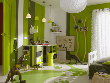 Beautiful Chambre Fille Vert Anis Gallery - Design Trends 2017 ...