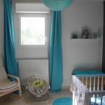 deco chambre bebe bleu turquoise