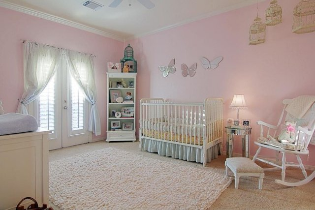 deco chambre bebe fille rose pale. Black Bedroom Furniture Sets. Home Design Ideas