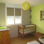 deco chambre bebe vert anis