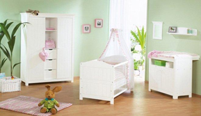 Deco chambre bebe vert anis et rose visuel 3 - Deco chambre bebe rose ...