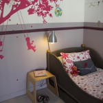 deco chambre fille rose et gris