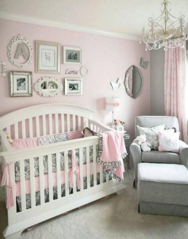 deco chambre fille rose et gris - visuel #7