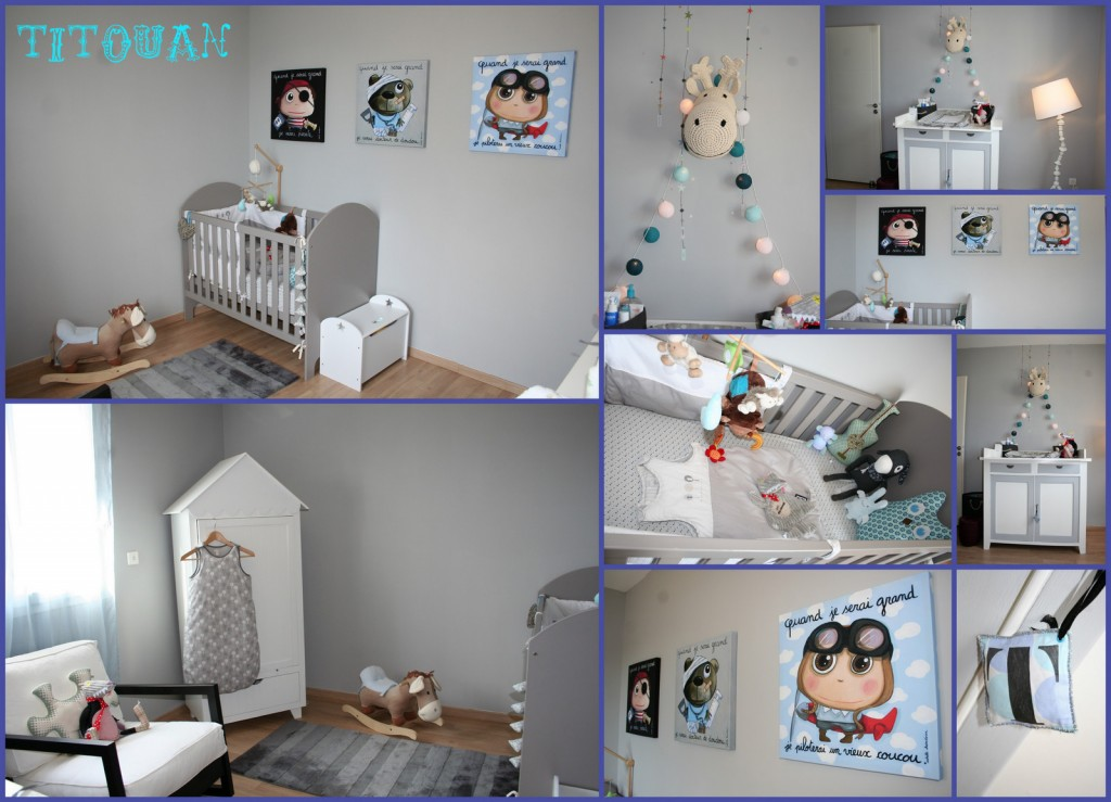 Chambre bebe garcon bleu et gris for Chambre garcon gris bleu