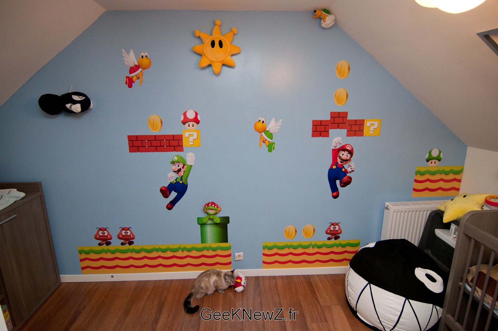 Deco chambre mario kart for Decoration lit