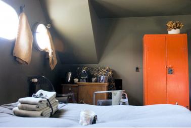 deco chambre orange et gris - visuel #2