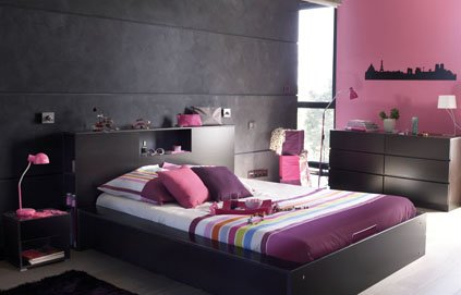 Awesome Chambre Grise Et Fushia Contemporary - House Design ...