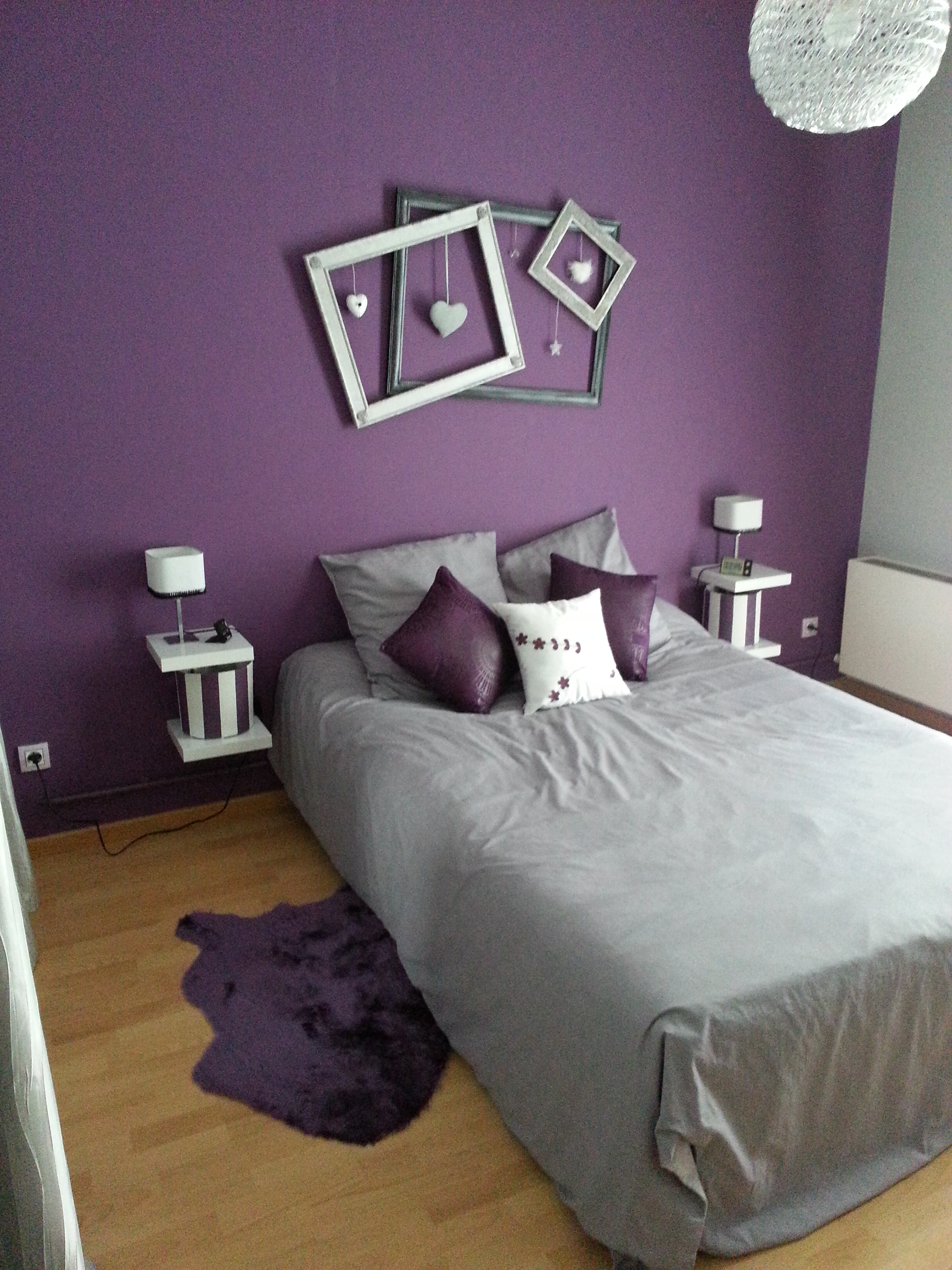 deco de chambre mauve. Black Bedroom Furniture Sets. Home Design Ideas