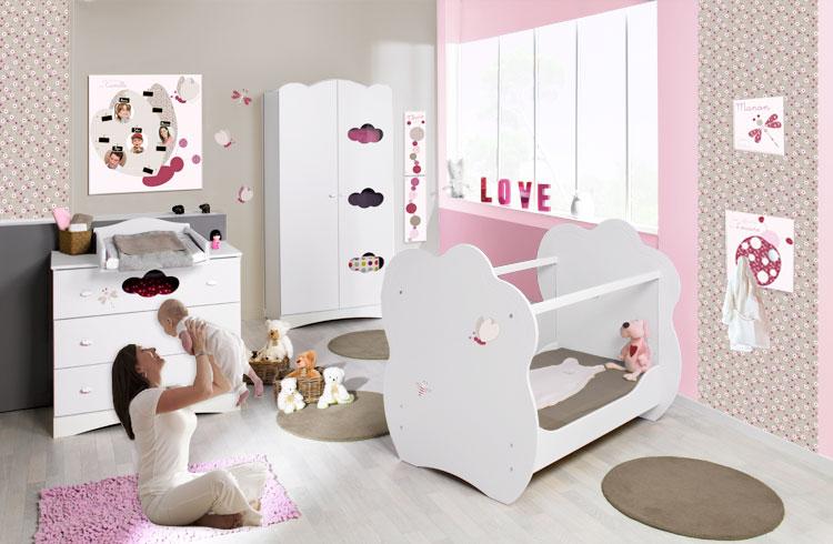 Objet deco chambre bebe fille 100049 la for Deco enfant fille