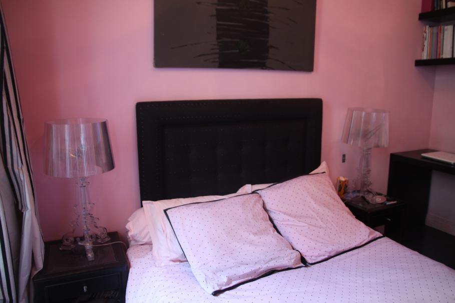 decoration chambre adulte rose et gris. Black Bedroom Furniture Sets. Home Design Ideas