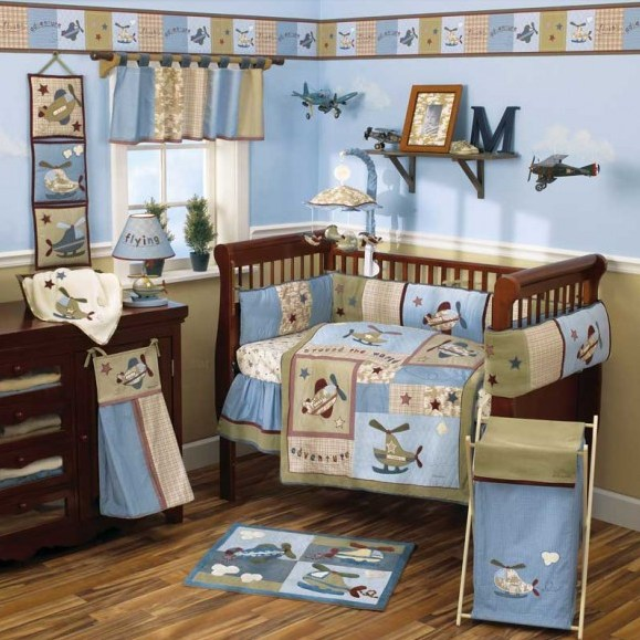 decoration chambre bebe avion