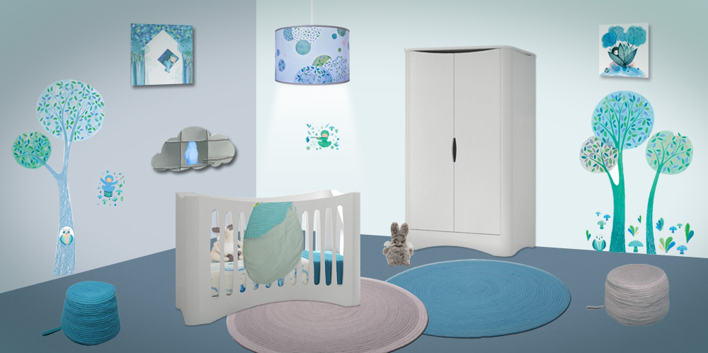 Decoration chambre bebe theme nuage for Theme deco maison