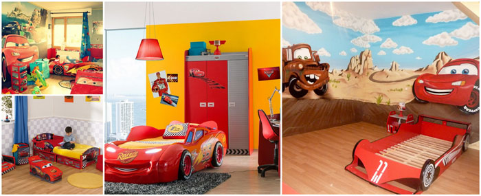 decoration chambre cars disney visuel 6. Black Bedroom Furniture Sets. Home Design Ideas