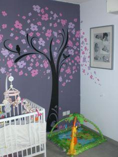 decoration chambre fille mauve
