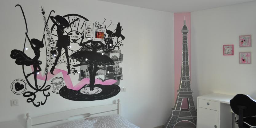 Decoration chambre fille theme paris - Theme chambre fille ...