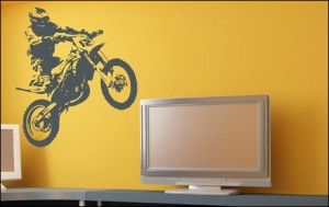 decoration chambre garcon moto