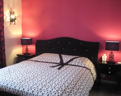 decoration chambre rose fushia et noir - visuel #3
