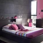 decoration chambre rose fushia et noir