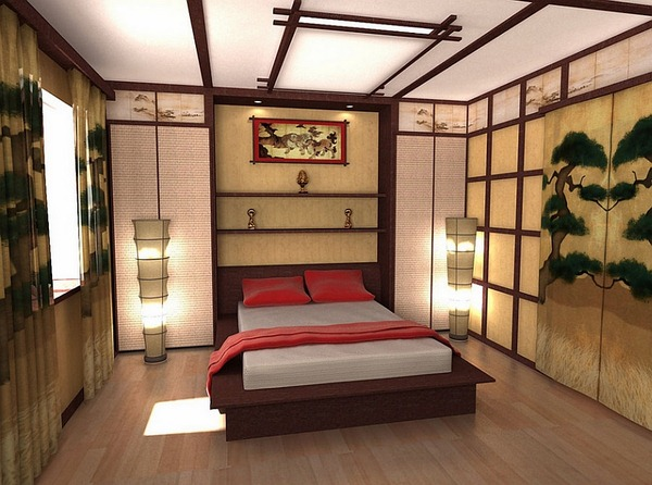 decoration chambre style asiatique. Black Bedroom Furniture Sets. Home Design Ideas