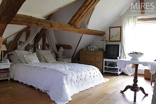 decoration de chambre sous les combles - visuel #8