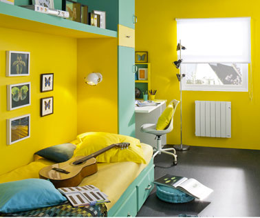 Decoration pour chambre jaune visuel 4 for Decoration maison jaune