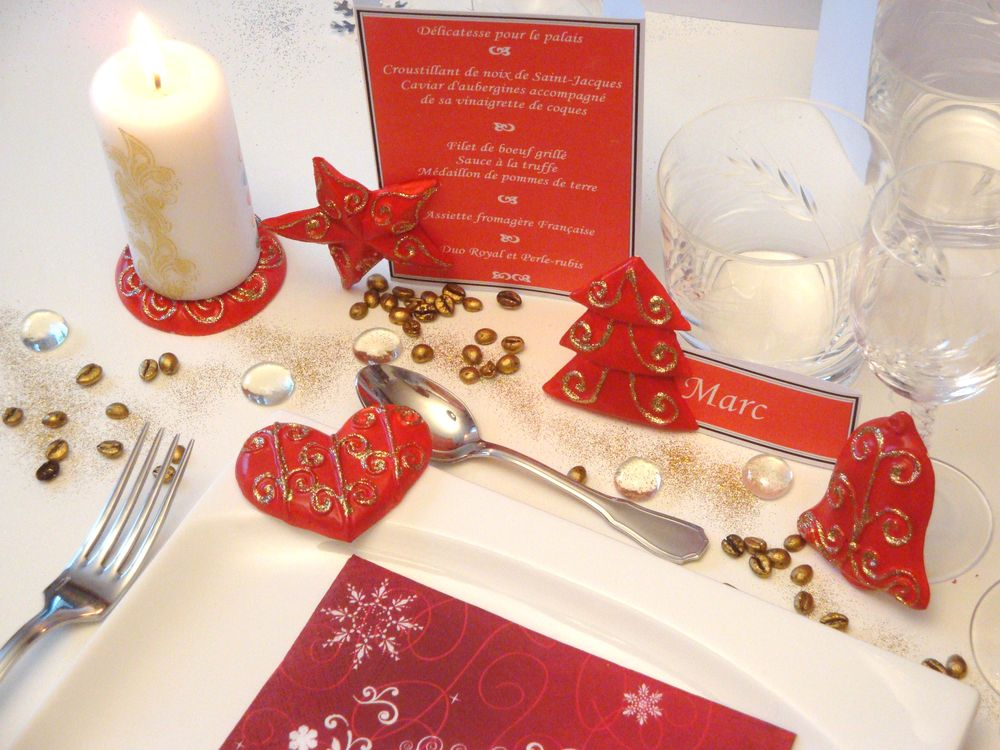 Faire une decoration de table pour noel Une deco de table de noel