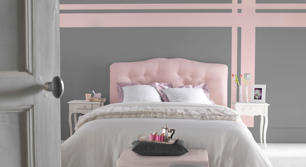 idee deco pour chambre rose grise visuel 6. Black Bedroom Furniture Sets. Home Design Ideas