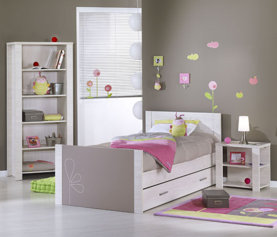 lit junior sauthon fun rose. Black Bedroom Furniture Sets. Home Design Ideas