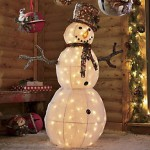 lit snowman decoration