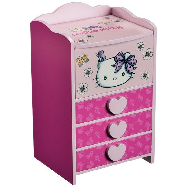 boite a bijoux fille hello kitty visuel 3. Black Bedroom Furniture Sets. Home Design Ideas