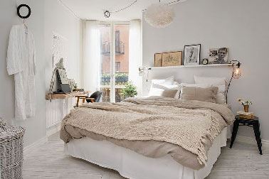 chambre deco beige