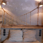 chambre deco bois flotte