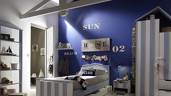 chambre deco style marin visuel 7. Black Bedroom Furniture Sets. Home Design Ideas