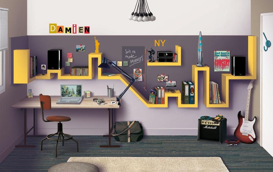 d coration de chambre ado. Black Bedroom Furniture Sets. Home Design Ideas