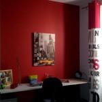 deco chambre ado rouge et noir
