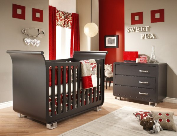 awesome chambre bebe rouge et blanc pictures - design trends 2017