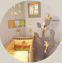 deco chambre bebe savane. Black Bedroom Furniture Sets. Home Design Ideas