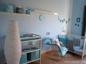 deco chambre bebe turquoise - visuel #7