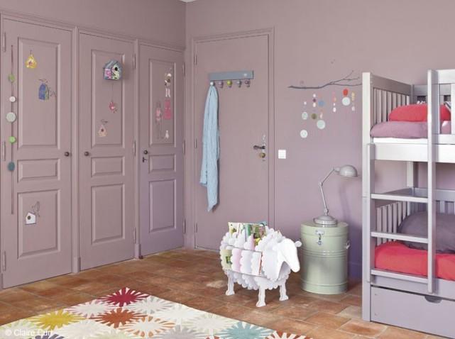 deco chambre fille gris parme - visuel #8