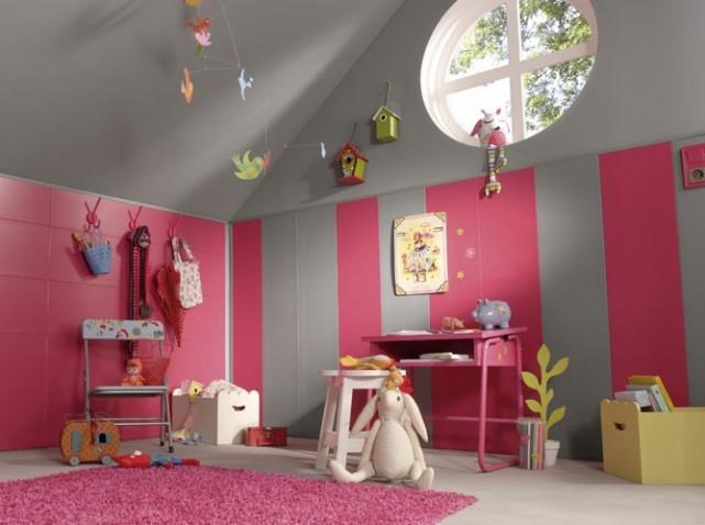 Deco chambre fille rose et vert - Chambre fille orange et vert ...