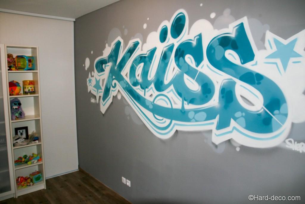 deco chambre garcon graffiti
