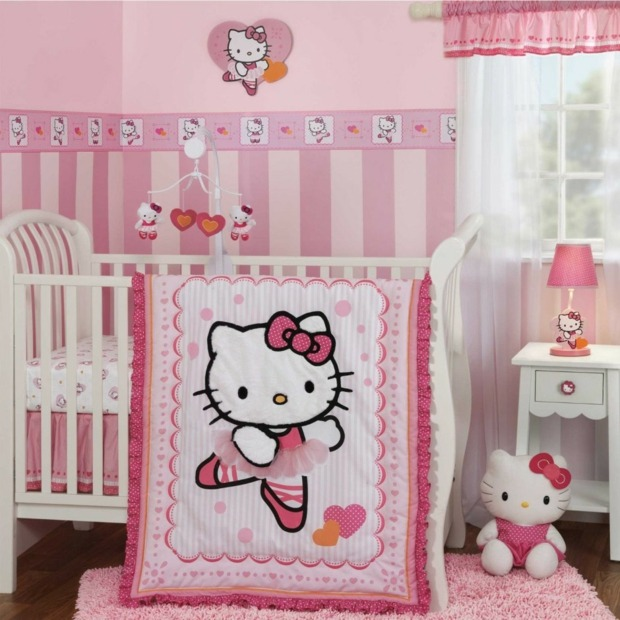 Deco chambre hello kitty bebe - Decoration hello kitty chambre bebe ...
