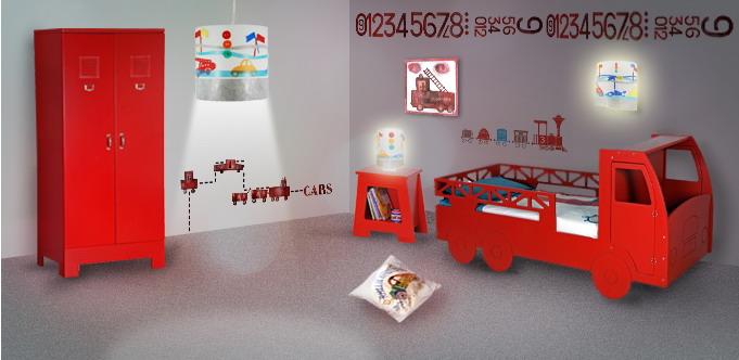 Deco chambre pompier visuel 2 Idee deco chambre garcon pompier