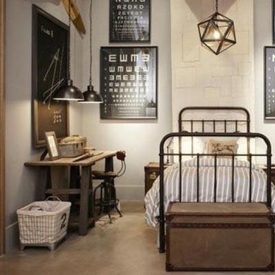 Deco Chambre Style Industriel Visuel 7