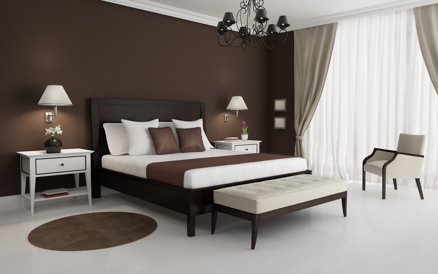 chambre marron et blanc couleur de chambre moderne u le marron apporte le luxe et le confort. Black Bedroom Furniture Sets. Home Design Ideas