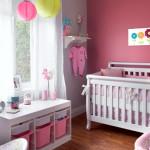 decoration chambre bebe fille rose