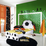 decoration chambre garcon football
