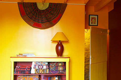 decoration chambre orange jaune - visuel #6