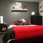 decoration chambre rouge et noir