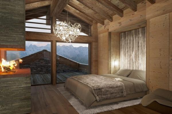 decoration chambre style chalet - visuel #8